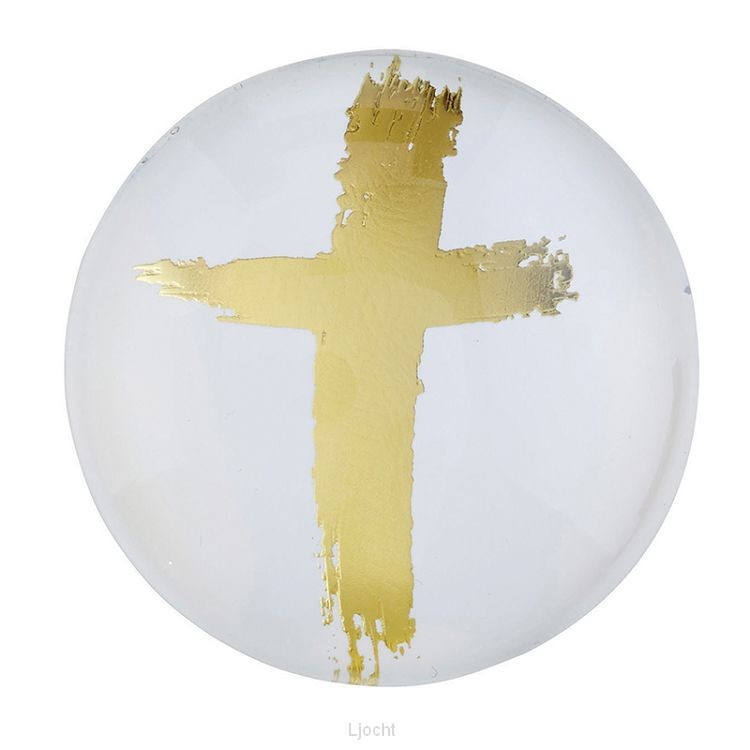 Magnet Round Gold Cross