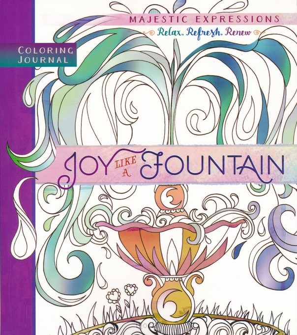 Coloring journal joy like a fountain